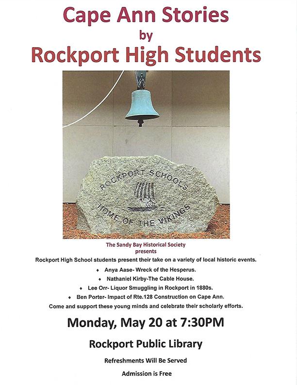 RP High School stories poster 5-20-19