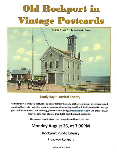 Old Rockport Vintage Postcards 8-26-2019 poster