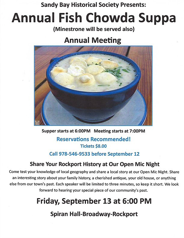 chowda supper poster sep 13-2019