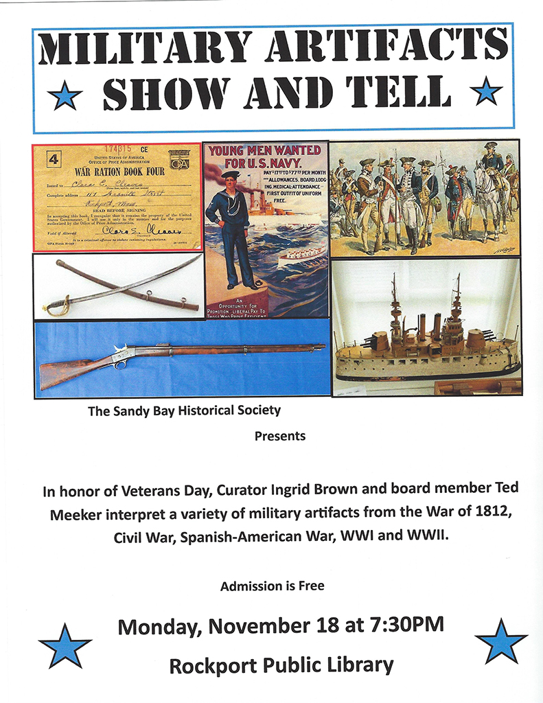 Military Artifacts poster 11-18-19